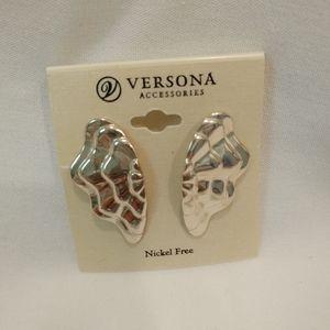 Silver costume earrings